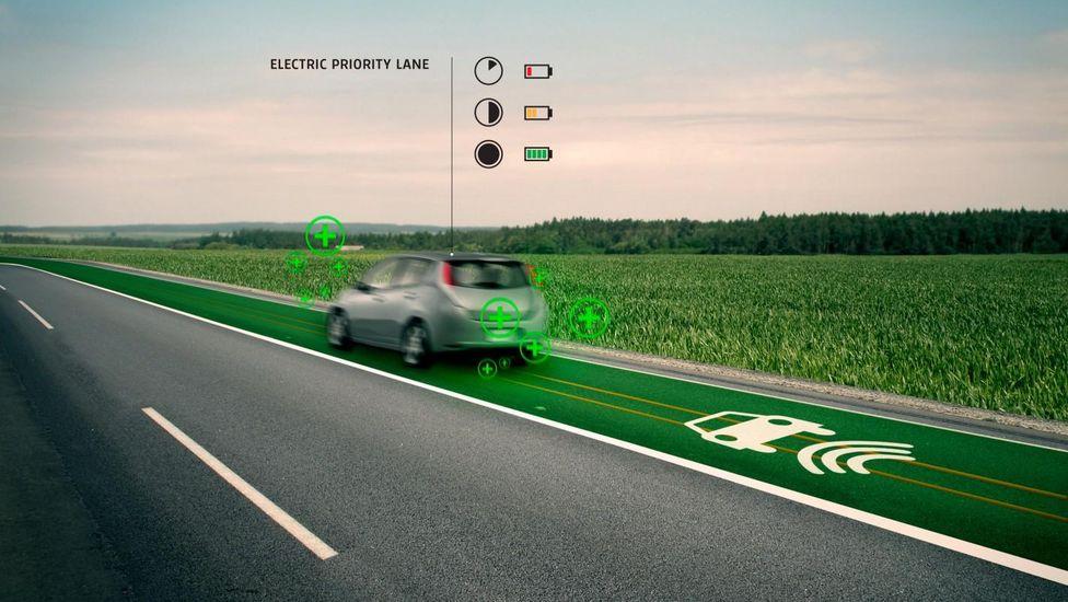 Voies d'autoroute réservées aux véhicules électriques – Crédit photos : www.studioroosegaarde.net